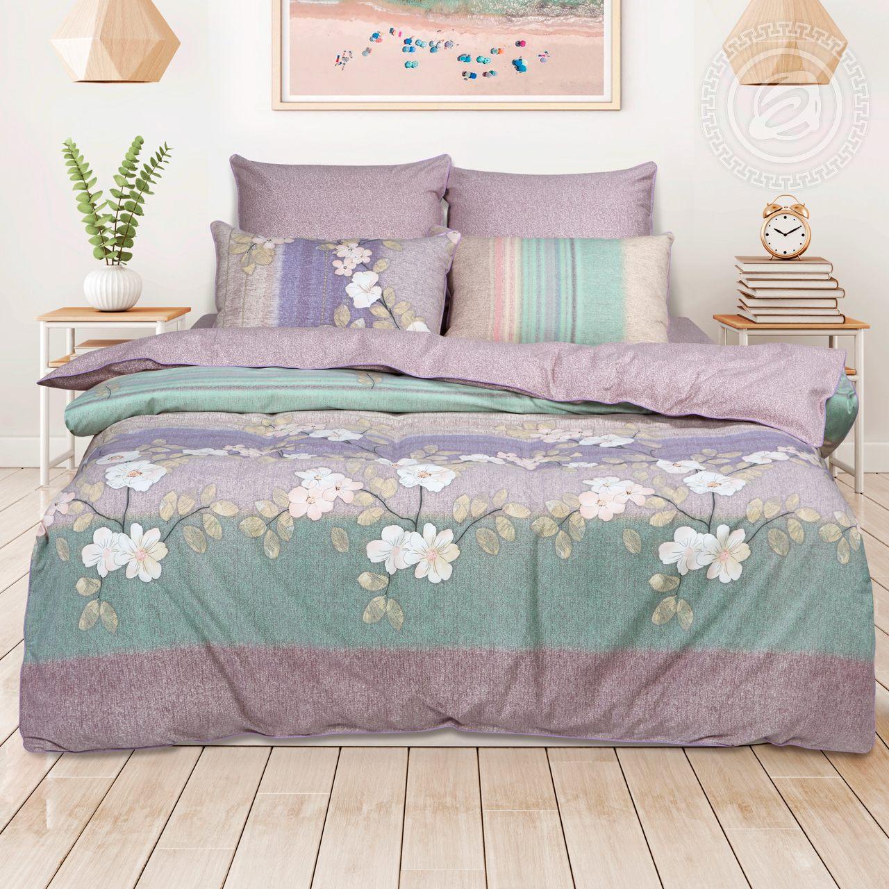 Постельное белье Маринель (велюр) (2 спальный с Евро простынёй) постельное белье ницца велюр 2 спальный с евро простынёй