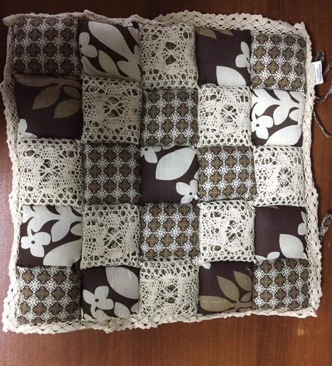 Декоративная подушка Винтаж (светло-коричневый) (40*40) подушка для стульев винтаж коричневый 40 40