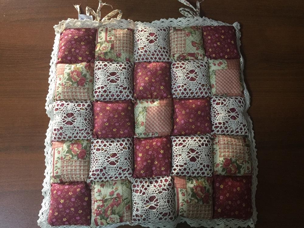 Декоративная подушка Винтаж (бородовый со цветочками) (40*40) подушка для стульев винтаж коричневый 40 40