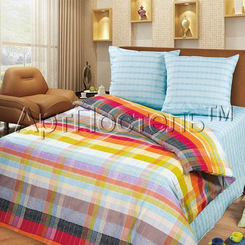 Постельное белье Палитра голубой (бязь) (1,5 спальный) amore mio постельное белье veselie 2 0 сп