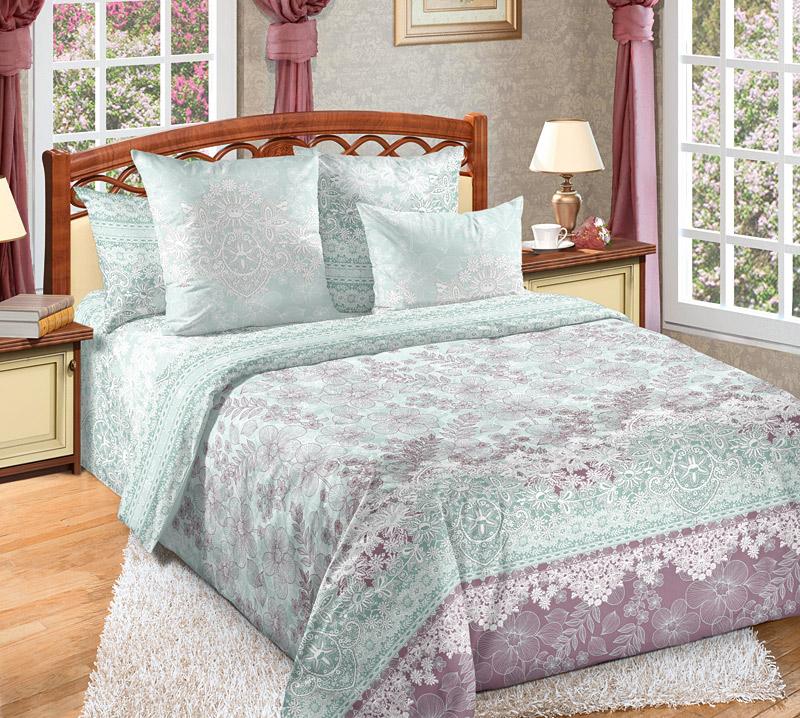 Постельное белье Гипюр (перкаль) (2 спальный с Евро простынёй) постельное белье альба перкаль 2 спальный