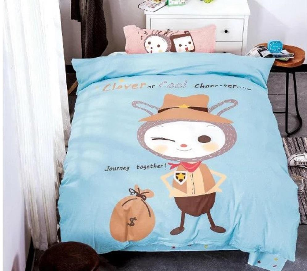 Постельное белье Шериф (сатин) (1,5 спальный) постельное белье львы 3д сатин 1 5 спальный
