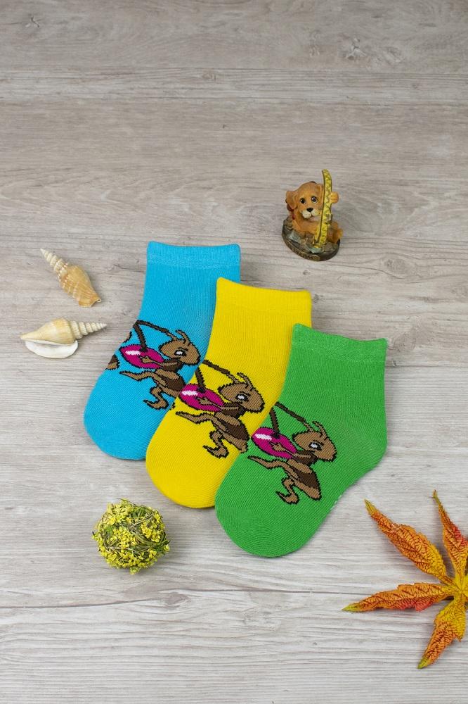 белье acoola носки детские 3 пары цвет ассорти размер 12 14 32224420038 Носки детские iv52691 (упаковка 3 пары)