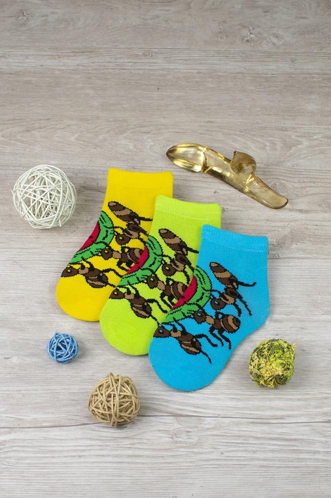 белье acoola носки детские 3 пары цвет ассорти размер 12 14 32224420038 Носки детские iv52692 (упаковка 3 пары)