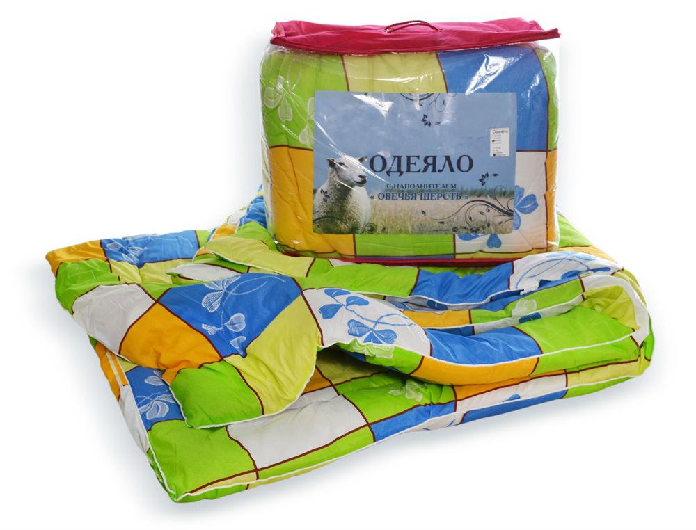 Одеяло iv6120 (овечья шерсть, полиэстер) (1,5 спальный (140*205)) одеяло облегченное iv20338 овечья шерсть микрофибра 1 5 спальный 140 205