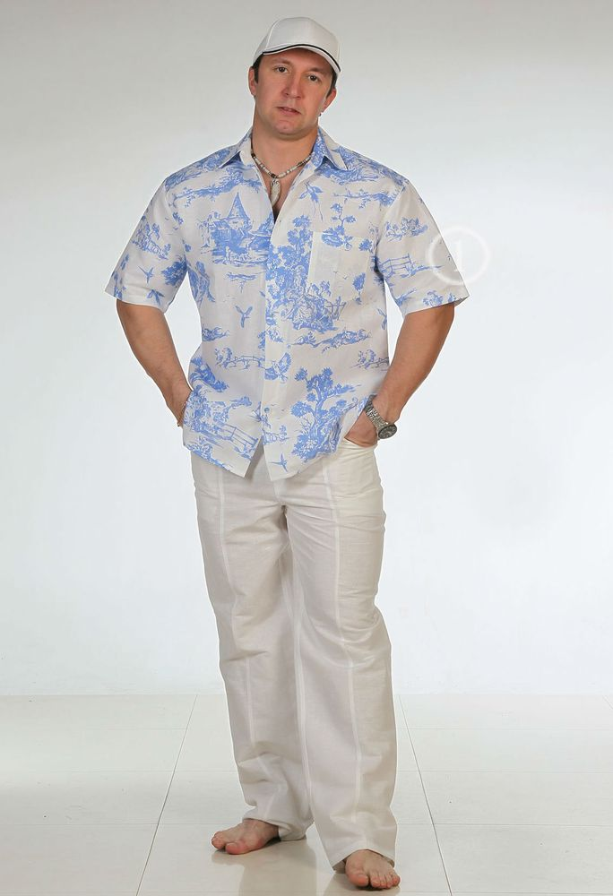 "Рубашка мужская из льна ""Аркадий"" от Grandstock"