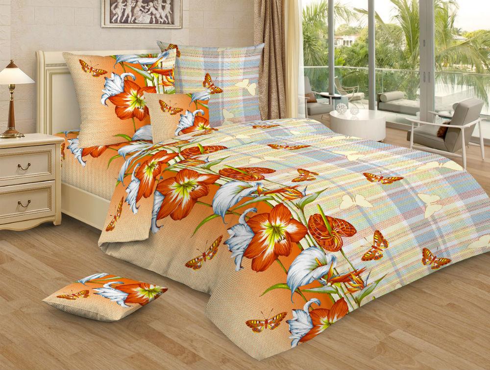 Постельное белье Цветалия GS (бязь) (2 спальный) постельное белье гербарий бежевый gs бязь 2 спальный