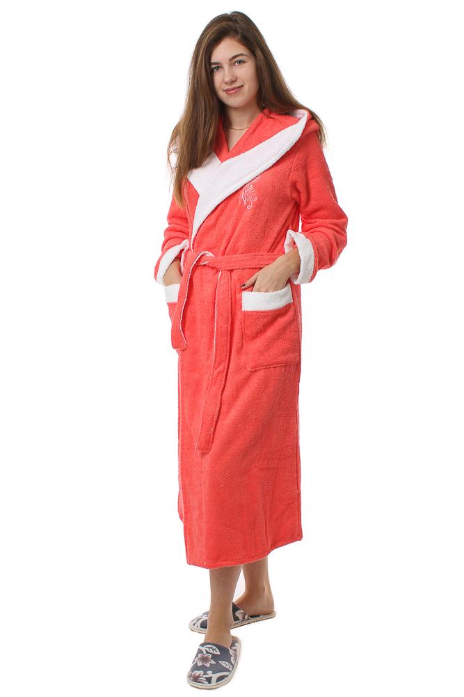 Халат женский махровый #Тюльпан#, Размер: 50 - Халаты - Теплые халаты