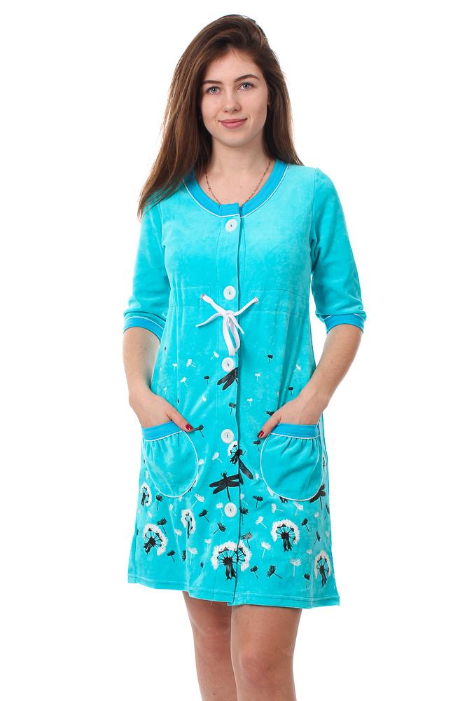 Халат женский #Вестерос#, Размер: 50 - Халаты - Теплые халаты