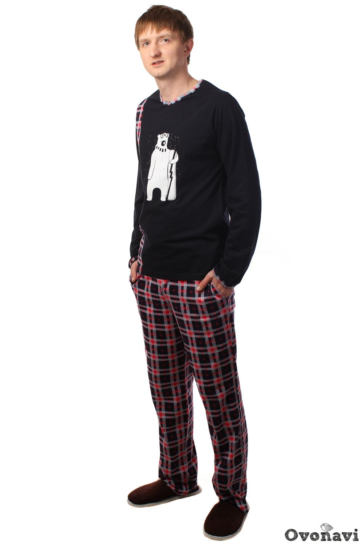 Купить Пижама мужская Эштон (принт: медведь), Грандсток