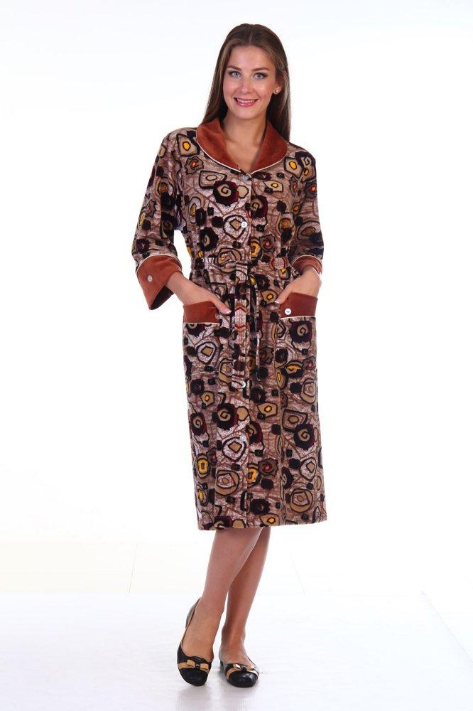 Халат женский #Мелодика# 46, Размер: 46 - Халаты - Теплые халаты