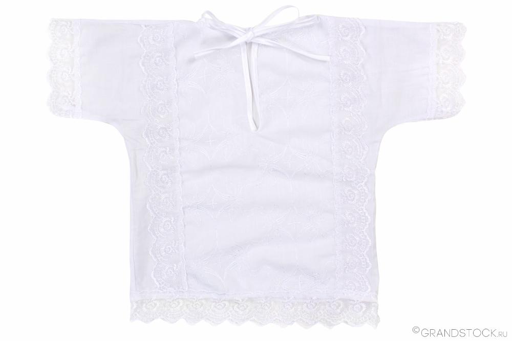 """Рубашечка с кружевом ситцевая """"Зайчик"""" 18 от Грандсток"""