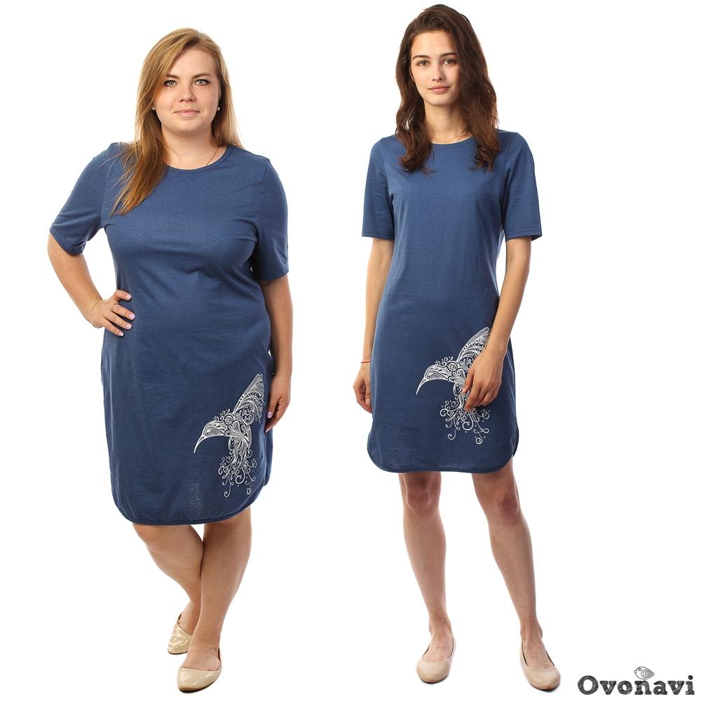 Туника женская Денериса (принт: колибри) футболка женская калина принт колибри