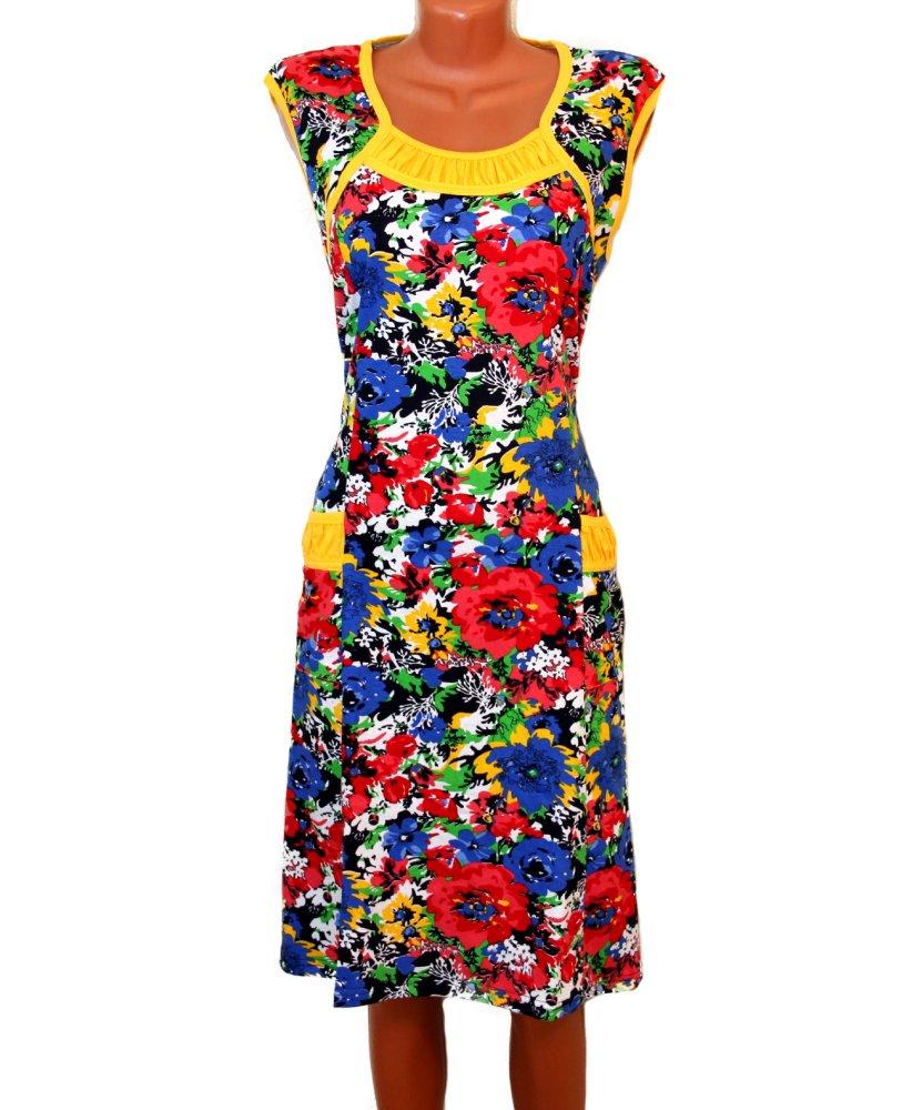 Купить Платье женское Летний сад 58, Грандсток, Кулирка, Лето
